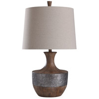 StyleCraft Home Collection L317851DS Darley 30 inch 150 watt Chestnut and Silver Table Lamp Portable Light