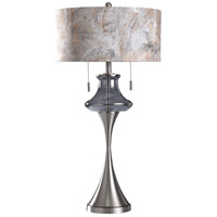 StyleCraft Home Collection L317944DS Callington 35 inch 60 watt Smoke and Silver Table Lamp Portable Light