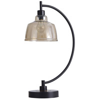 StyleCraft Home Collection L317984DS Black Water 26 inch 40 watt Black and Gold Table Lamp Portable Light