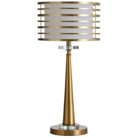 StyleCraft Home Collection L317986DS Eiland 25 inch 60 watt Modern Gold and Clear Table Lamp Portable Light