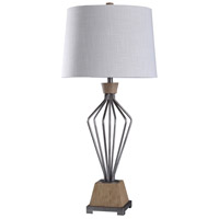 StyleCraft Home Collection L318039DS Haverhill 38 inch 150 watt Brushed Nickel and Natural Table Lamp Portable Light