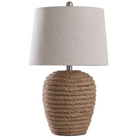 StyleCraft Home Collection L318043DS Helston 24 inch 100 watt Natural Table Lamp Portable Light