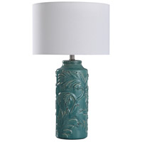 StyleCraft Home Collection L318044DS Mirfield 25 inch 60 watt Turquoise Table Lamp Portable Light