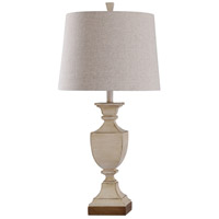 StyleCraft Home Collection L318110DS Linday 30 inch 150 watt Weathered Ivory Table Lamp Portable Light