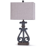 StyleCraft Home Collection L318315DS Brampton 13 inch 100 watt Distressed Blue and Oatmeal Table Lamp Portable Light