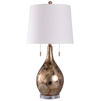 Gold and White Acrylic Table Lamps