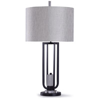 StyleCraft Home Collection L318319DS Haslemere 13 inch 150 watt Black and Clear Table Lamp Portable Light