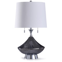 StyleCraft Home Collection L318471DS Saxham 13 inch 120 watt Chrome and Smokey Gray Table Lamp Portable Light