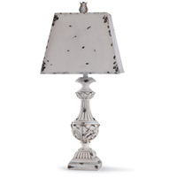 StyleCraft Home Collection L318590DS Alver 33 inch 150 watt Distressed Cream and Distressed White Table Lamp Portable Light