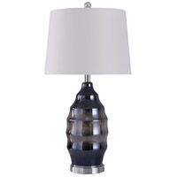 StyleCraft Home Collection L318633DS Bella 11 inch 150 watt Chrome and Gray Table Lamp Portable Light