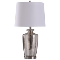StyleCraft Home Collection L318634DS Hill 12 inch 150 watt Steel and Mercury Table Lamp Portable Light