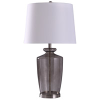 StyleCraft Home Collection L318635DS Hill 12 inch 150 watt Steel and Gray Smoked Table Lamp Portable Light