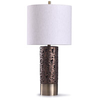 StyleCraft Home Collection L318698DS Chesham 13 inch 150 watt Brass and Bronze Table Lamp Portable Light