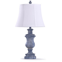 StyleCraft Home Collection L318713DS Taos 12 inch 60 watt Denim Blue and Off White With White Trim Table Lamp Portable Light
