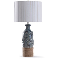 StyleCraft Home Collection L318771DS Bampton 12 inch 150 watt Blue and Natural Table Lamp Portable Light