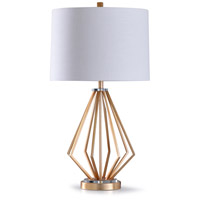 StyleCraft Home Collection L318816DS Upton 13 inch 150 watt Gold and Clear Table Lamp Portable Light