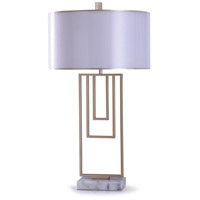 StyleCraft Home Collection L318821DS Ottery 10 inch 150 watt Gold and White Table Lamp Portable Light