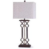 StyleCraft Home Collection L318824DS Beacon 13 inch 100 watt Textured Bronze and Oatmeal Table Lamp Portable Light