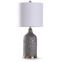 StyleCraft Home Collection L318846DS Rochford 13 inch 150 watt Antique Brass and Silver Table Lamp Portable Light