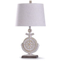 StyleCraft Home Collection L318868DS Somerland 12 inch 100 watt Weathered Ivory and Brown Table Lamp Portable Light