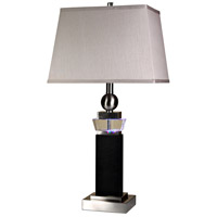 StyleCraft Home Collection L31899DS Signature 3 inch 100 watt Brushed Steel Table Lamp Portable Light