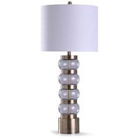 StyleCraft Home Collection L319069DS Ongar 13 inch 150 watt Gold and Clear Table Lamp Portable Light