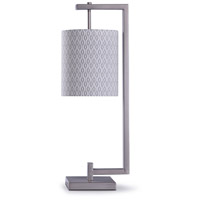 StyleCraft Home Collection L319102DS Beacon 10 inch 60 watt Steel and Gray Table Lamp Portable Light