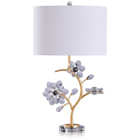 StyleCraft Home Collection L319130DS Ulster 28 inch 100 watt Gold and Clear Table Lamp Portable Light
