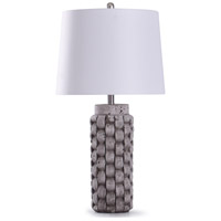StyleCraft Home Collection L319132DS Artherstone 12 inch 150 watt Textured Gray and White Table Lamp Portable Light