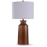 StyleCraft Home Collection L319143DS Robinson 12 inch 100 watt Brown and Off White Table Lamp Portable Light