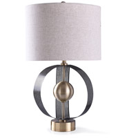 StyleCraft Home Collection L319218DS Havant 12 inch 150 watt Gold and Oatmeal Table Lamp Portable Light