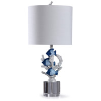 StyleCraft Home Collection L319226DS St. Ives 13 inch 150 watt Multi Colored Blue and White Table Lamp Portable Light