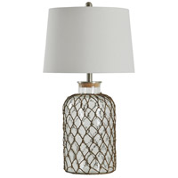 StyleCraft Home Collection L32077DS Signature 3 inch 150 watt Seeded Glass Table Lamp Portable Light