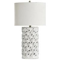 StyleCraft Home Collection L32102DS Signature 30 inch 100 watt White Glaze Table Lamp Portable Light