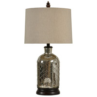 StyleCraft Home Collection L32115DS Signature 3 inch 100 watt Antique Silver Plated Table Lamp Portable Light