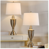 StyleCraft Home Collection L321680DS Signature 32 inch 150 watt Brushed Nickel Table Lamp Portable Light
