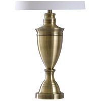 StyleCraft Home Collection L321682DS Signature 32 inch 150 watt Brass Table Lamp Portable Light