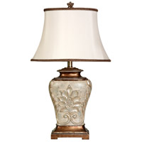 StyleCraft Home Collection L32331DS Signature 28 inch 100 watt Antique White with Gold Accents Table Lamp Portable Light