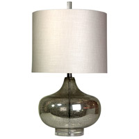 StyleCraft Home Collection L32356DS Signature 28 inch 100 watt Antique Mercury Table Lamp Portable Light