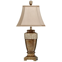 StyleCraft Home Collection L33003DS Signature 33 inch 100 watt Brown Glaze with Silver Leaf Table Lamp Portable Light