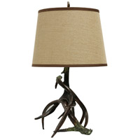 StyleCraft Home Collection L33145DS Signature 27 inch 100 watt Dark Brown Table Lamp Portable Light