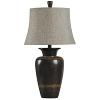 StyleCraft Home Collection L33165DS Signature 33 inch 100 watt Dark Brown Table Lamp Portable Light