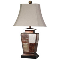 StyleCraft Home Collection L33189DS Signature 29 inch 100 watt Bronze and Cream Table Lamp Portable Light