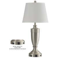 StyleCraft Home Collection L33193DS Signature 40 inch 100 watt Brushed Steel Table Lamp Portable Light