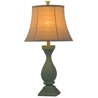 StyleCraft Home Collection L33816DS Signature 30 inch 100 watt Distressed Ocean Mist Blue Table Lamp Portable Light