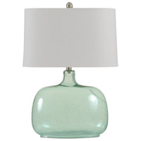 StyleCraft Home Collection L36040DS Signature 26 inch 100 watt Teal Seeded Table Lamp Portable Light