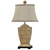 StyleCraft Home Collection L36960DS Signature 30 inch 100 watt Tortola Cream Table Lamp Portable Light