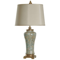 StyleCraft Home Collection L37157DS Signature 35 inch 150 watt Blue and Gold Table Lamp Portable Light