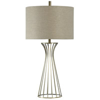 Signature 28 inch 100 watt Champange Gold Table Lamp Portable Light