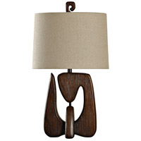 StyleCraft Home Collection L37834DS Signature 3 inch 100 watt Chestnut Table Lamp Portable Light